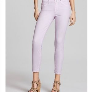 J Brand soft lilac skinny jeans